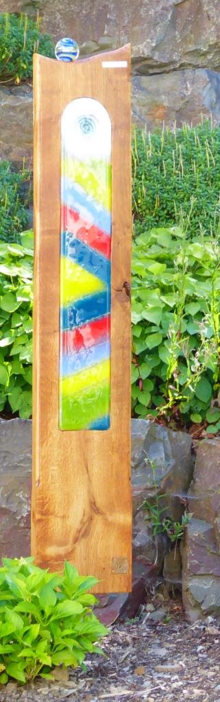 Eichenstele Nr. 6 mit großen Fusingglas